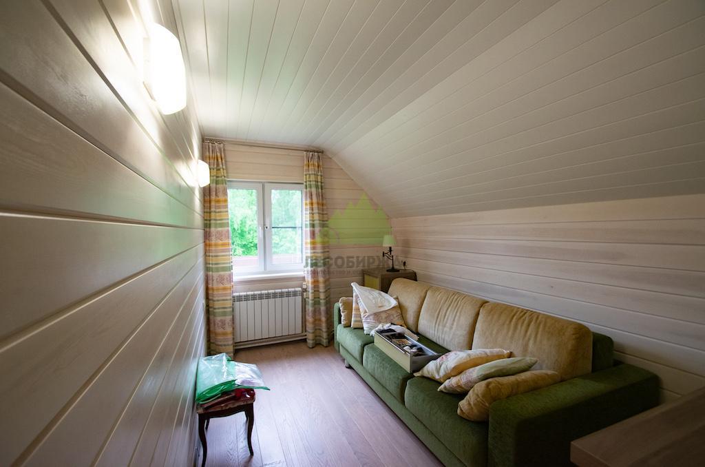 Имитация бруса на потолке фото внутренняя отделка