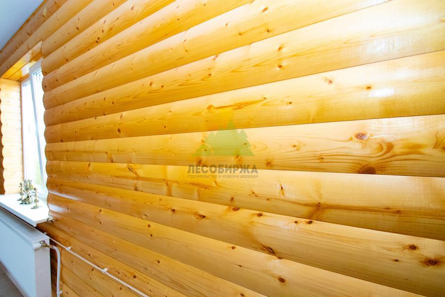обшивка блок хаусом из сосны внутри бани